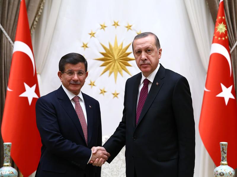 Ahmet Davutoğlu Beştepe'de