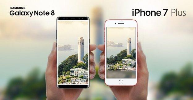 İphone 7 Plus- Samsung Galaxy Note 8 Hız Testinde Karşılaştırılırsa!