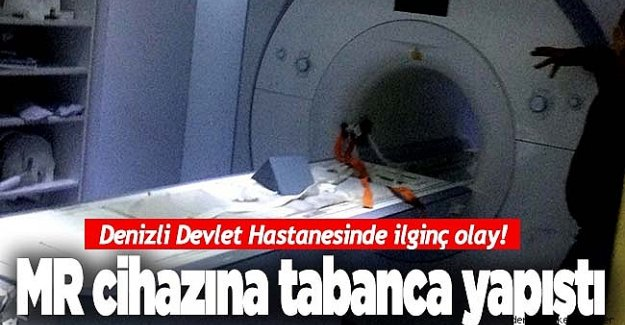 Denizli'de Polisin Belindeki Silah MR Cihazına Yapıştı!