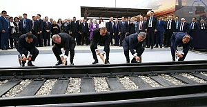 '' Demir İpek Yolu Hattı'' Bakü- Tiflis- Kars Demiryolu Açıldı