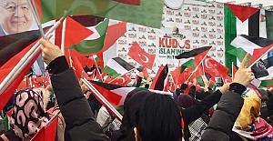 İstanbul'da '' Kudüs İslamındır '' Mitingine Binlerce Kişi Akın Etti